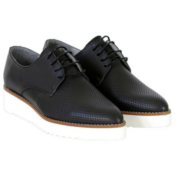 Bedawi Women's Vegan Oxfords in Black by Bahatika picture from the side at ALIVE Boutique