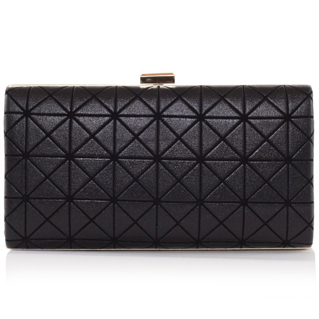 Black Joel vegan Clutch by Labante London at ALIVE Boutique