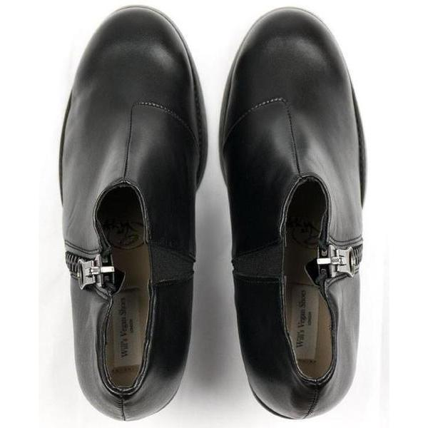 Black Luxed Heeled vegan Shoes picture from above by Will's Vegan Shoes ALIVE Boutique
