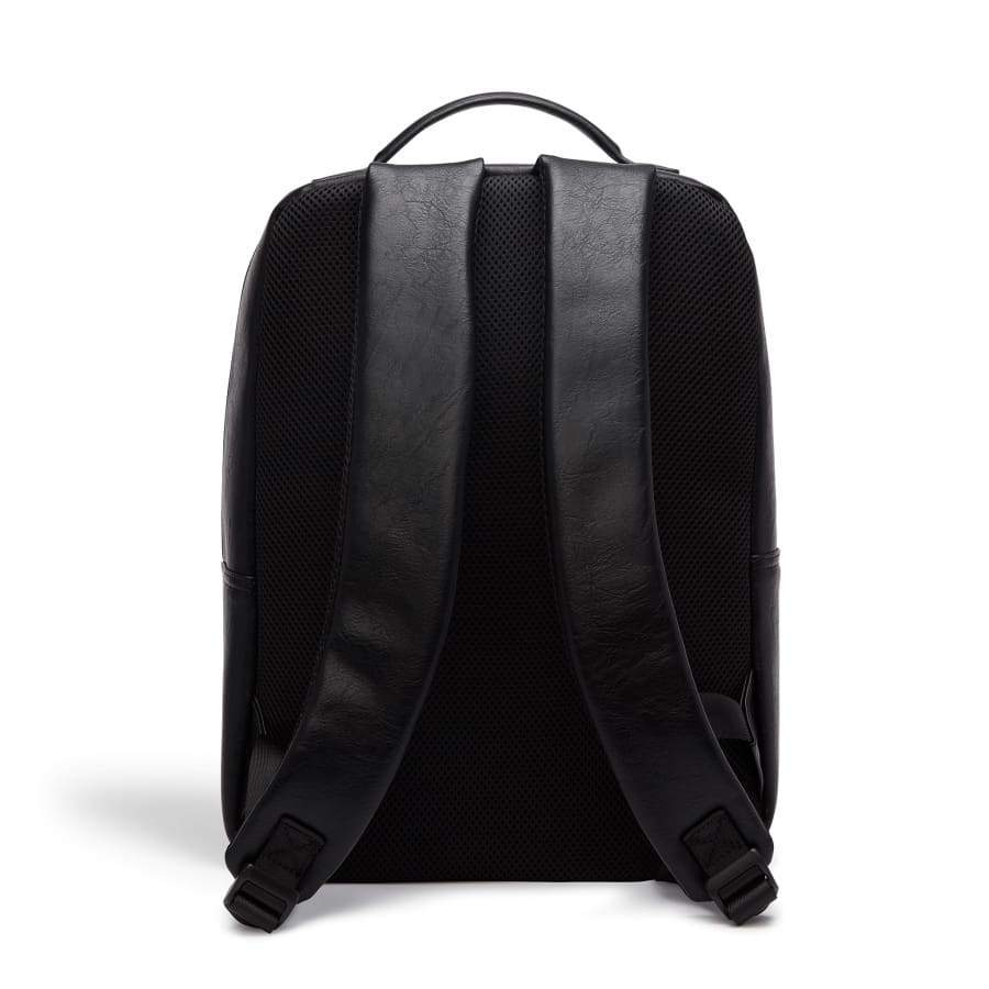 Black Unisex Vegan Backpack Acacia from behind
