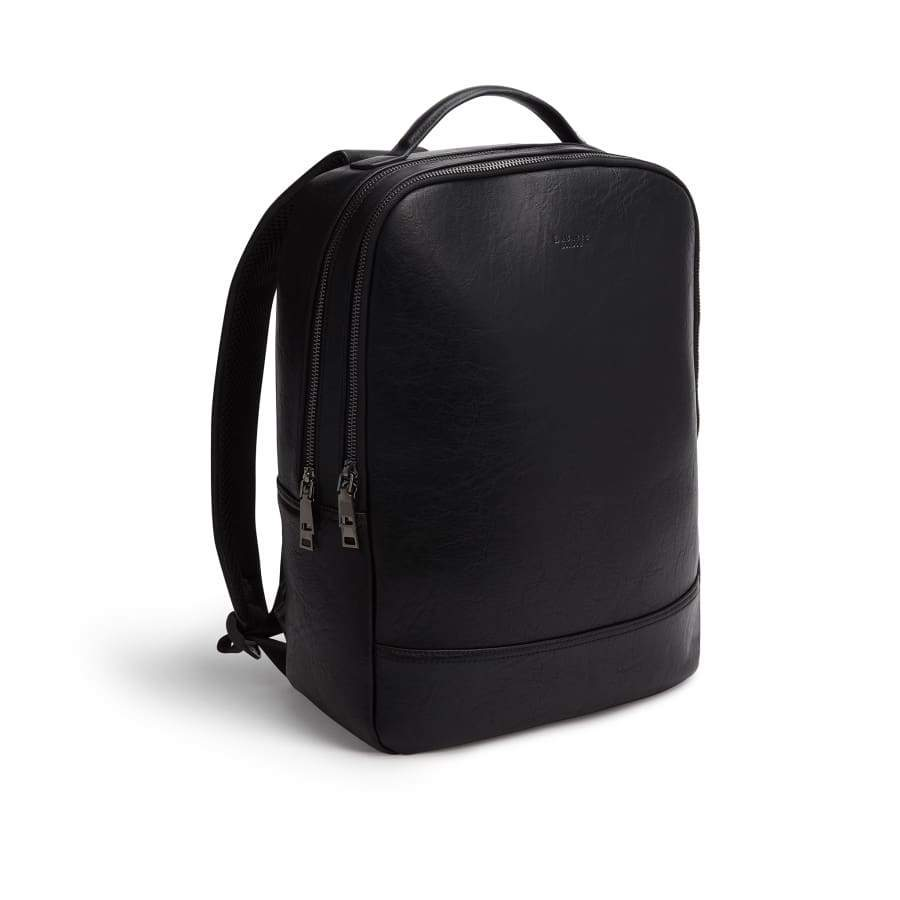 Black Unisex Vegan Backpack Acacia from the side