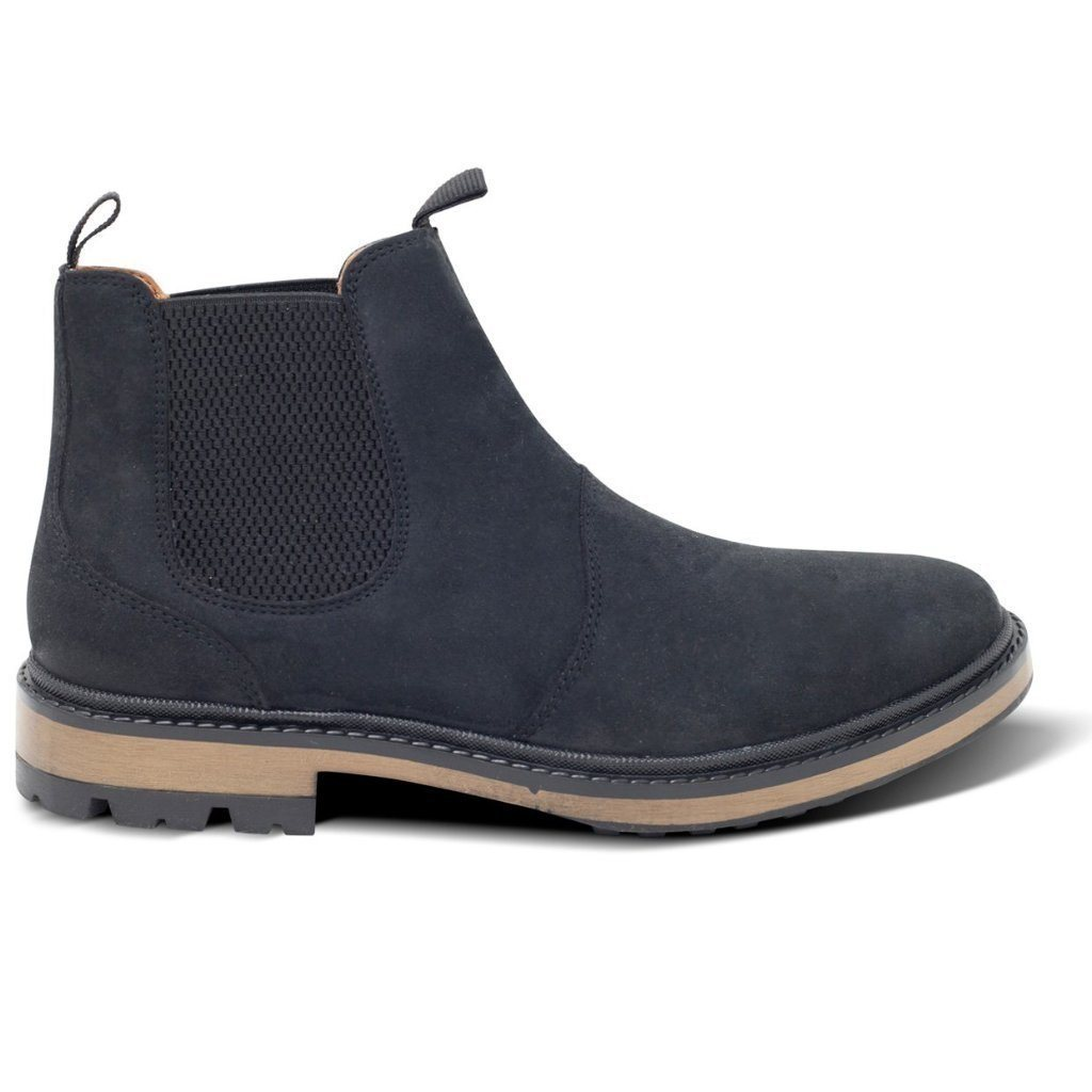 Black Vegan Chelsea Boots Mens Continental by Will's Vegan Shoes at ALIVE Boutique