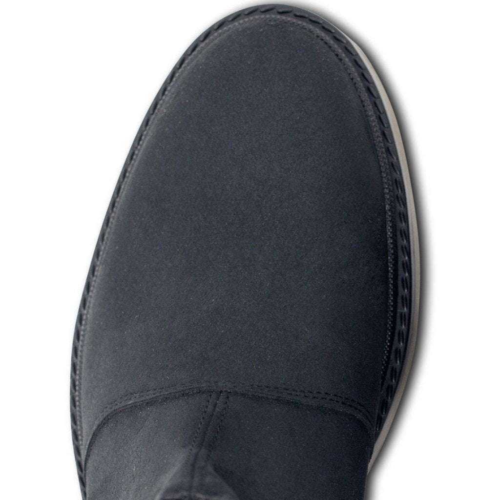 Black Vegan Chelsea Boots Mens Continental picture from above by Will's Vegan Shoes at ALIVE Boutique