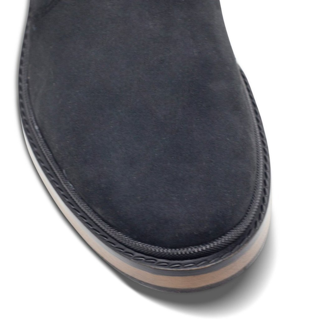 Black Vegan Chelsea Boots Mens Continental picture of the toecap by Will's Vegan Shoes at ALIVE Boutique