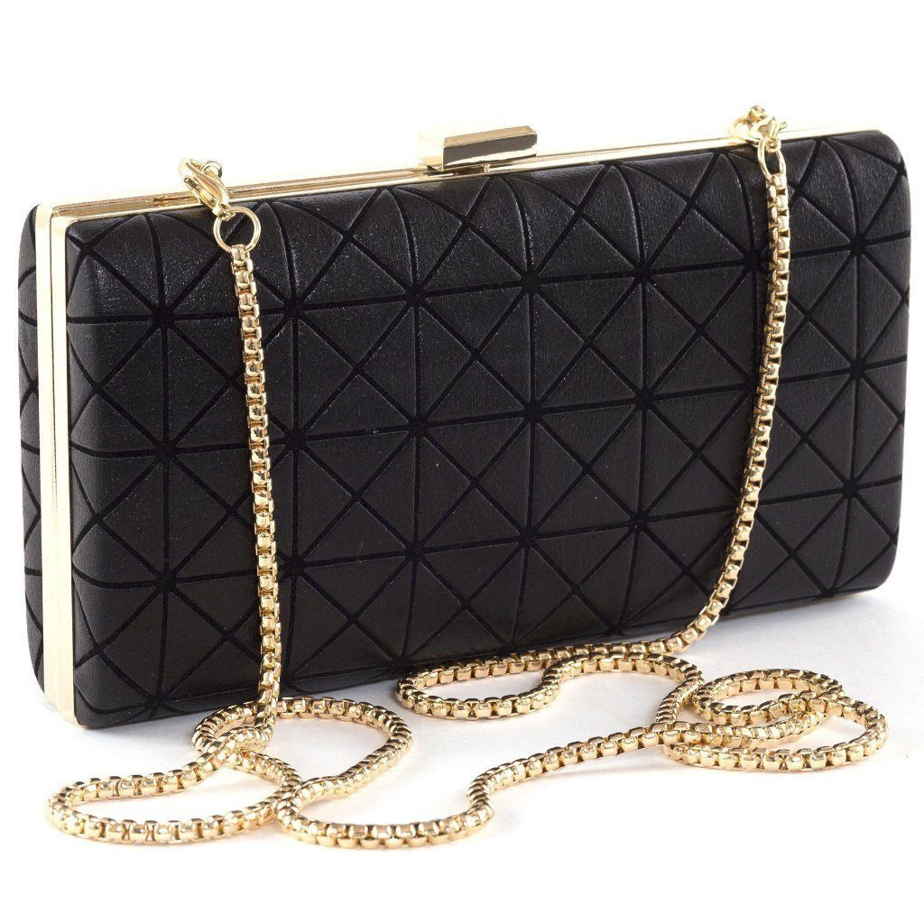 Black Vegan Clutch Joel by Labante London with Strap at ALIVE Boutique