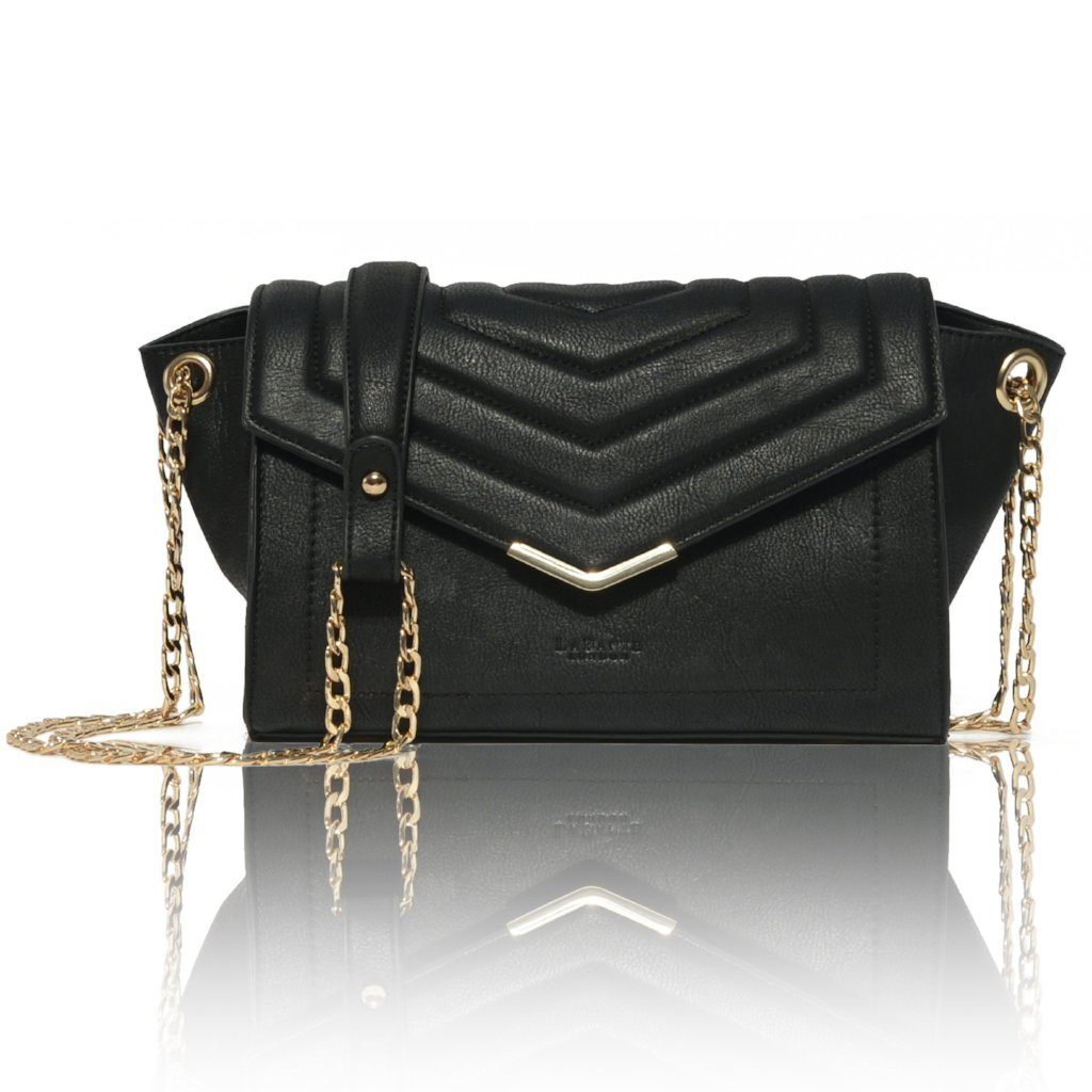 Black Vegan Cross Body Bag Kensington in black picture from the front by Labante at ALIVE Boutique