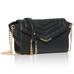 Black Vegan Cross Body Bag Kensington in black picture from the side by Labante at ALIVE Boutique