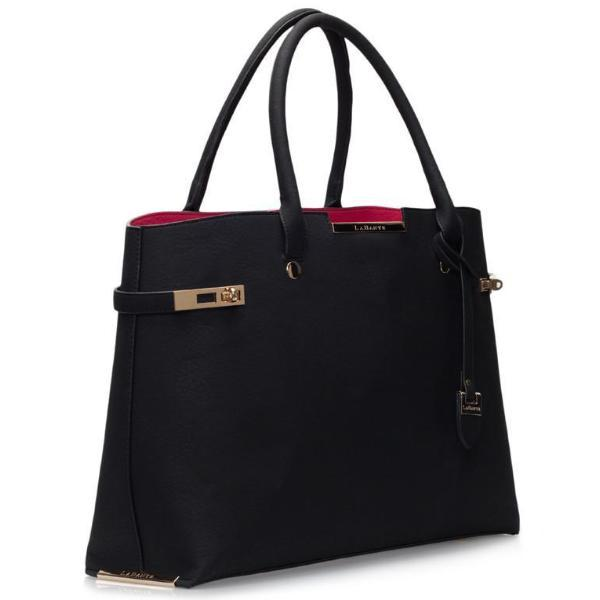 Black Windsor Vegan Leather Handbag by Labante at ALIVE Boutique