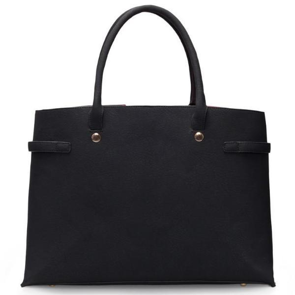 Black Windsor Vegan Leather Handbag by Labante picture from the back at ALIVE Boutique