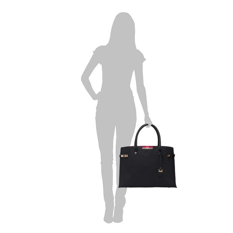 Bordeaux Windsor Vegan Handbag by Labante at ALIVE Boutique sizing information