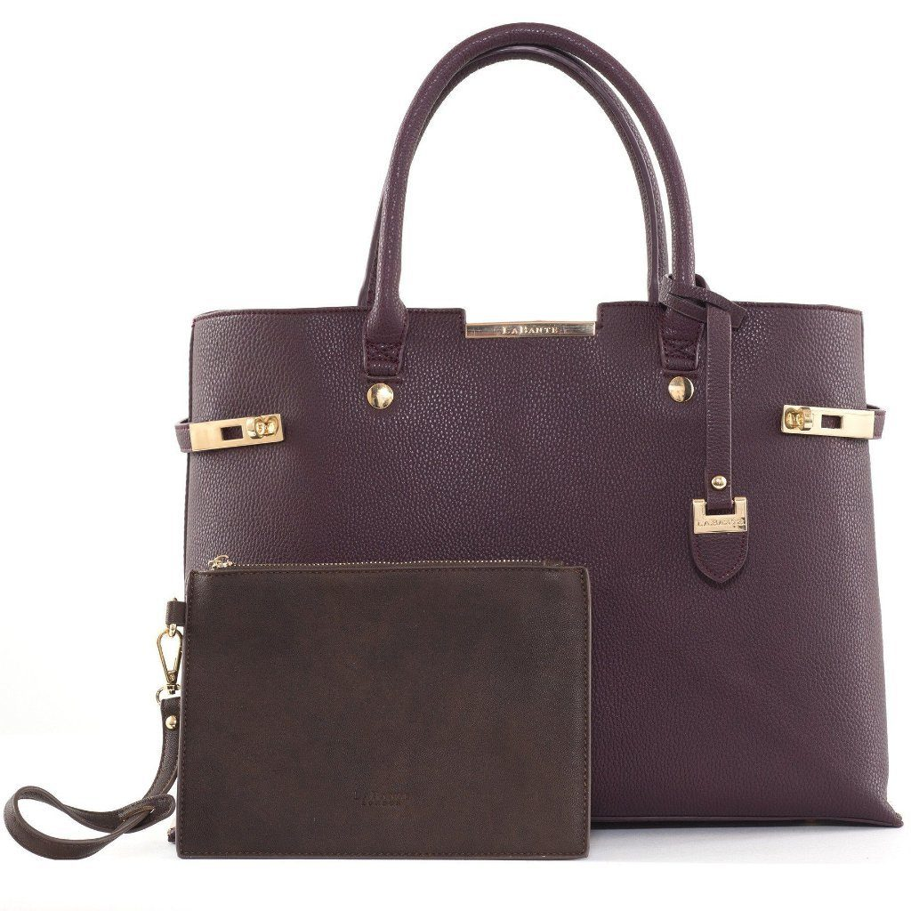 Bordeaux Windsor Vegan Handbag by Labante picture with the detachable bag at ALIVE Boutique
