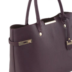 Bordeaux Windsor Vegan Handbag by Labante picture from the side at ALIVE Boutique