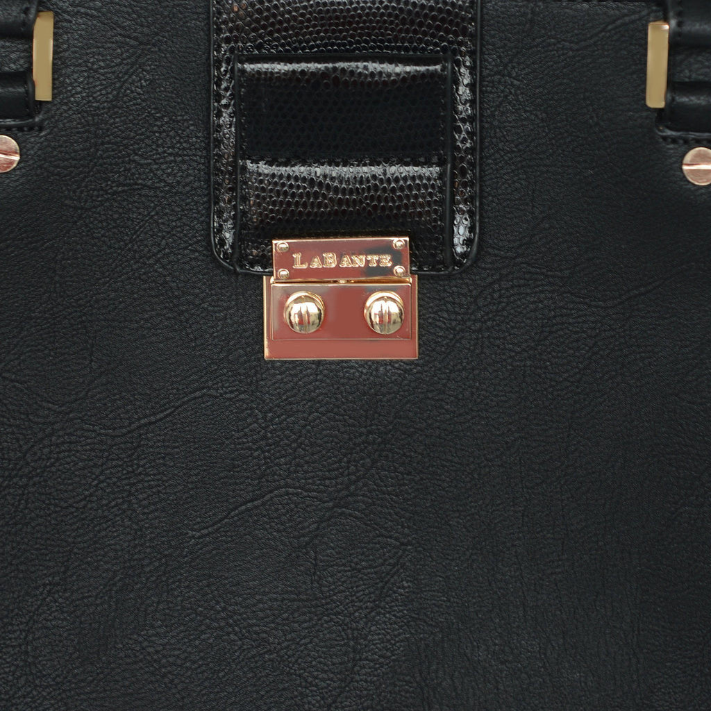 Black Vegan Handbag Jocelyn by Labante picture of a detail at ALIVE Boutique