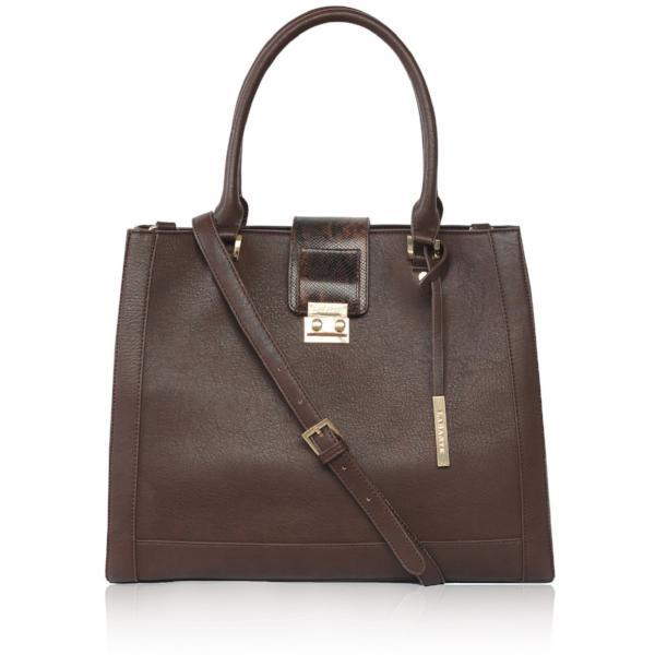 Brown Jocelyn Vegan Handbag by Labante picture from the front at ALIVE Boutique