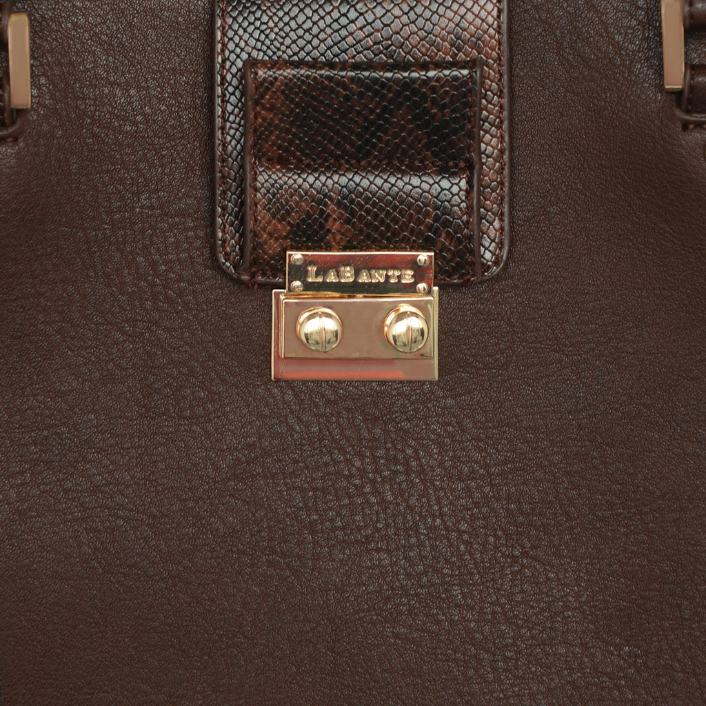 Brown Jocelyn Vegan Handbag by Labante detailed picture at ALIVE Boutique