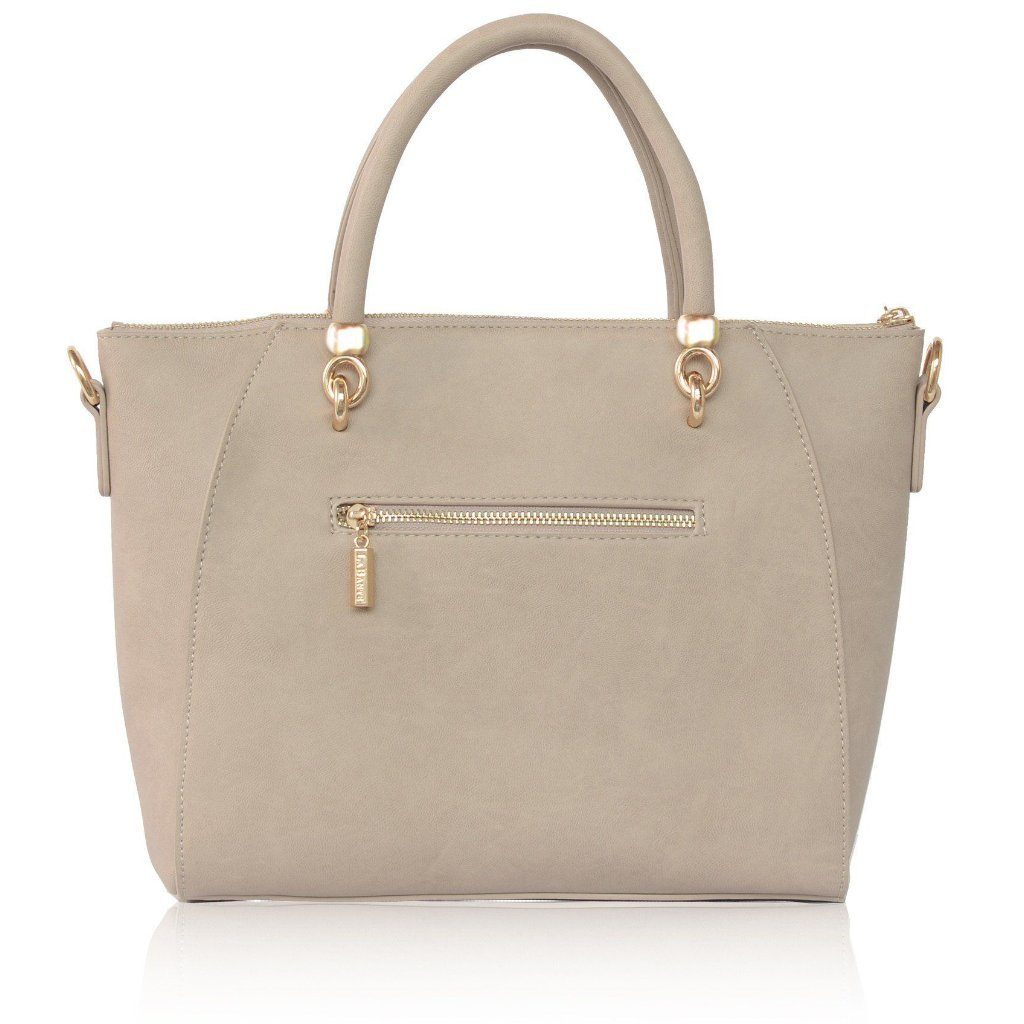 Grey Avenue Bow Vegan Leather Tote Bag by Labante pic from the back at ALIVE Boutique