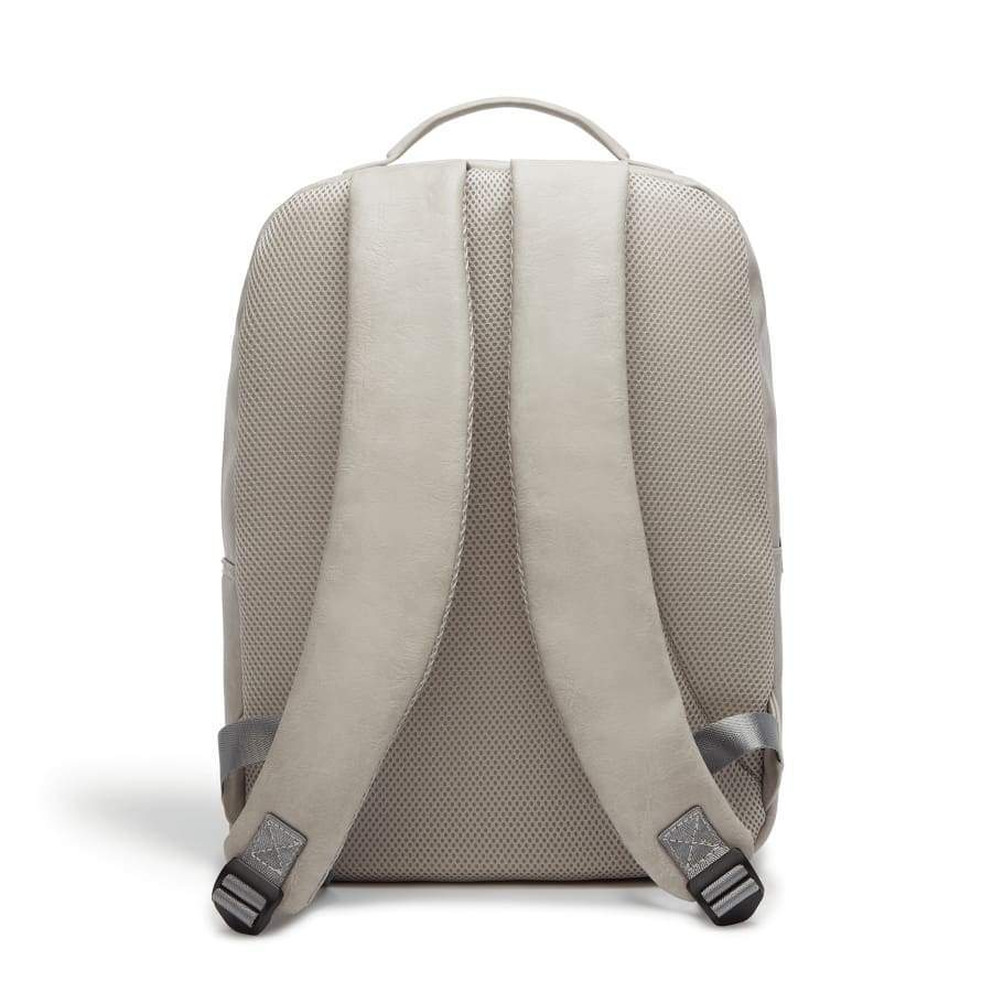 Grey Unisex Vegan Backpack Acacia from behind