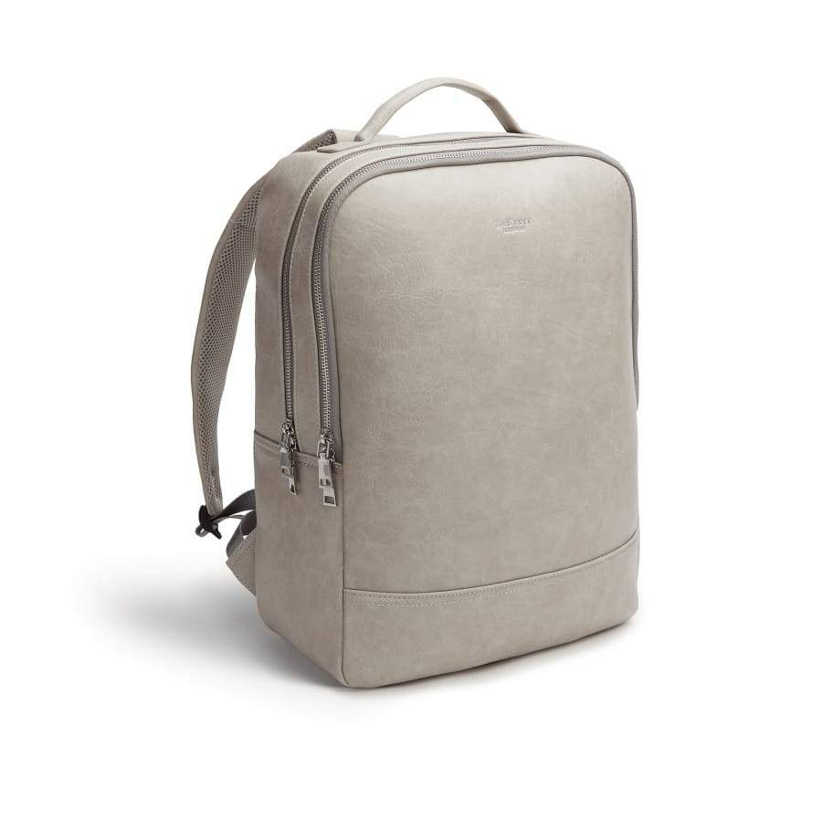 Grey Unisex Vegan Backpack Acacia from the side