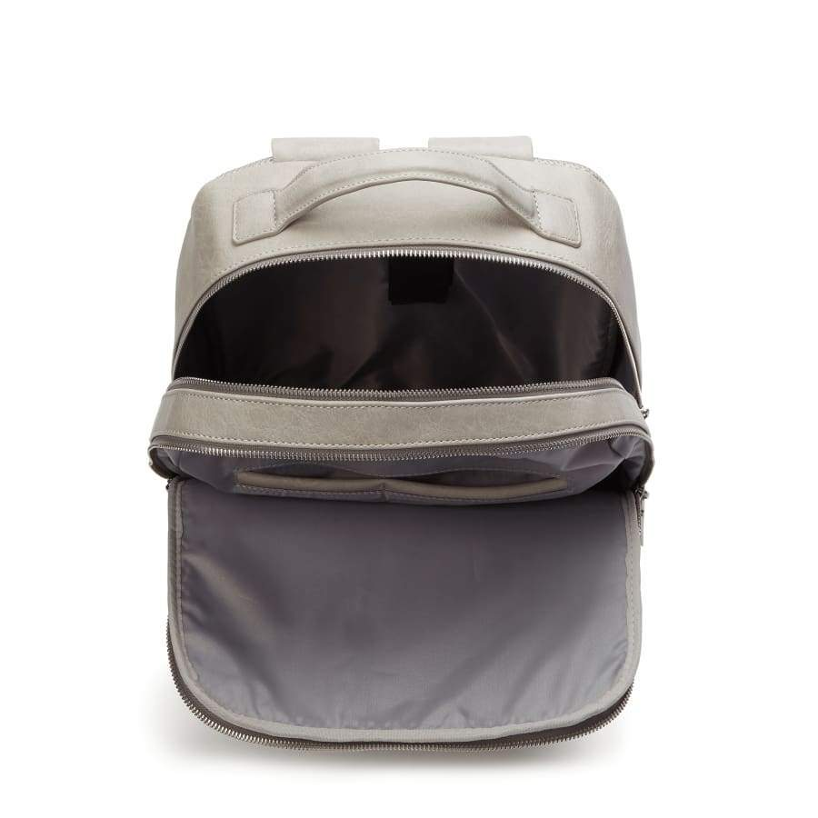 Grey Unisex Vegan Backpack Acacia inside