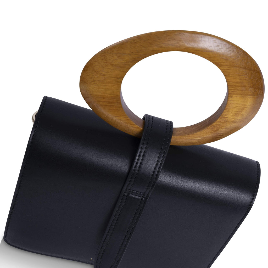 Black Vegan Handbag Abbey by Inyati from the above