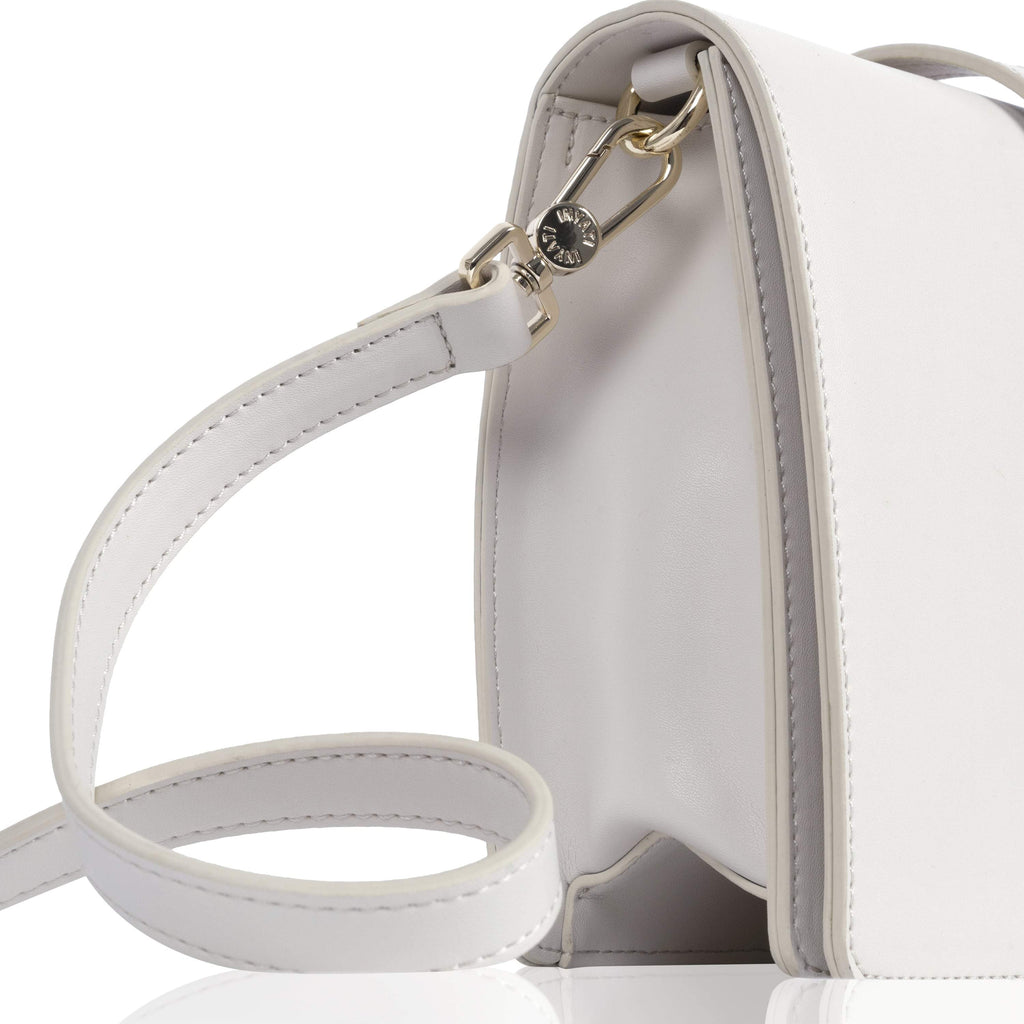 White Vegan Handbag Abbey by Inyati from the side