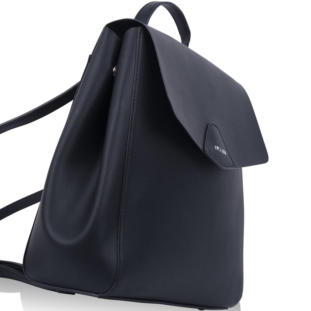 Black Vegan Backpack Thalie by Inyati from the side
