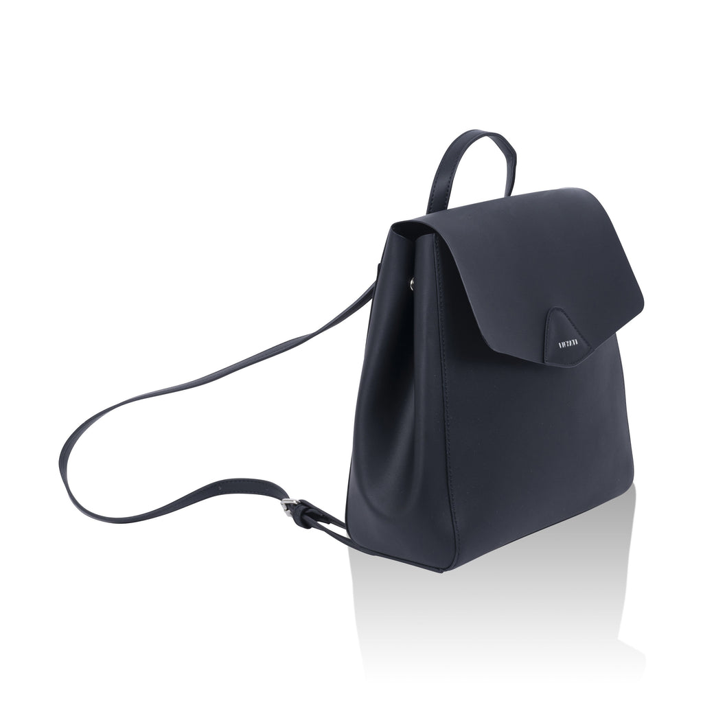 Black Vegan Backpack Thalie by Inyati from the left
