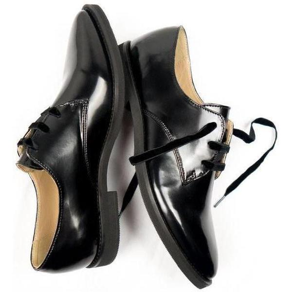 Luxe Derbies Vegan Shoes for Women picture from above by Will's Vegan Shoes at ALIVE Boutique