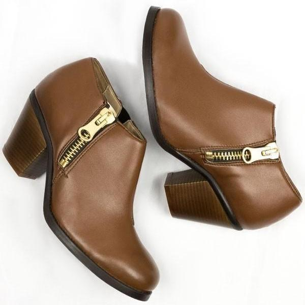 Luxe Heeled Vegan Shoes in Chestnut picture from above by Will's Vegan Shoes at ALIVE Boutique