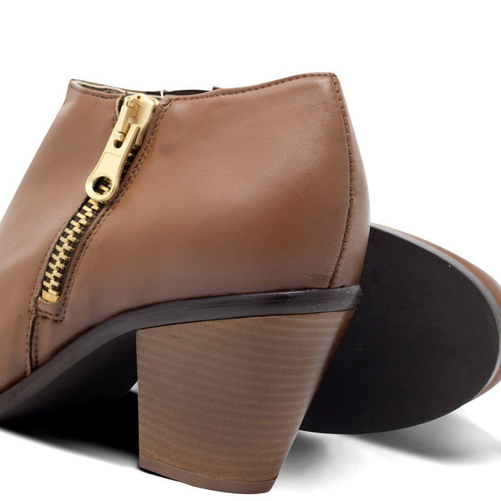Luxe Heeled Vegan Shoes in Chestnut picture from behind by Will's Vegan Shoes at ALIVE Boutique