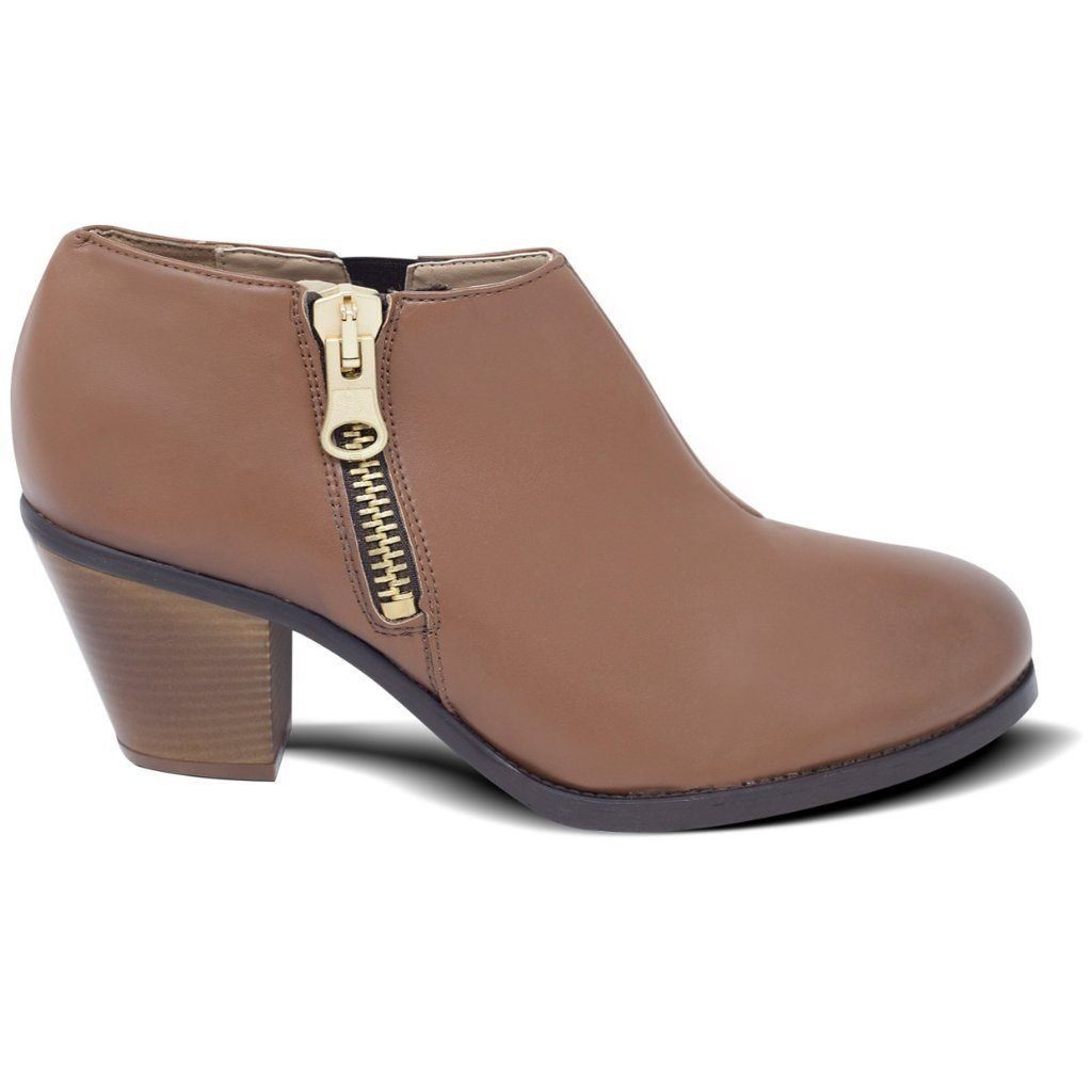 Luxe Heeled Vegan Shoes in Chestnut picture from the right by Will's Vegan Shoes at ALIVE Boutique