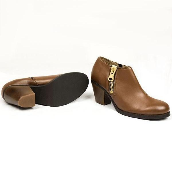Luxe Heeled Vegan Shoes in Chestnut by Will's ALIVE Boutique