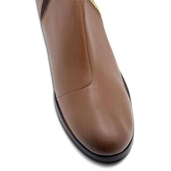 Luxe Heeled Vegan Shoes in Chestnut picture of the toecap by Will's Vegan Shoes at ALIVE Boutique