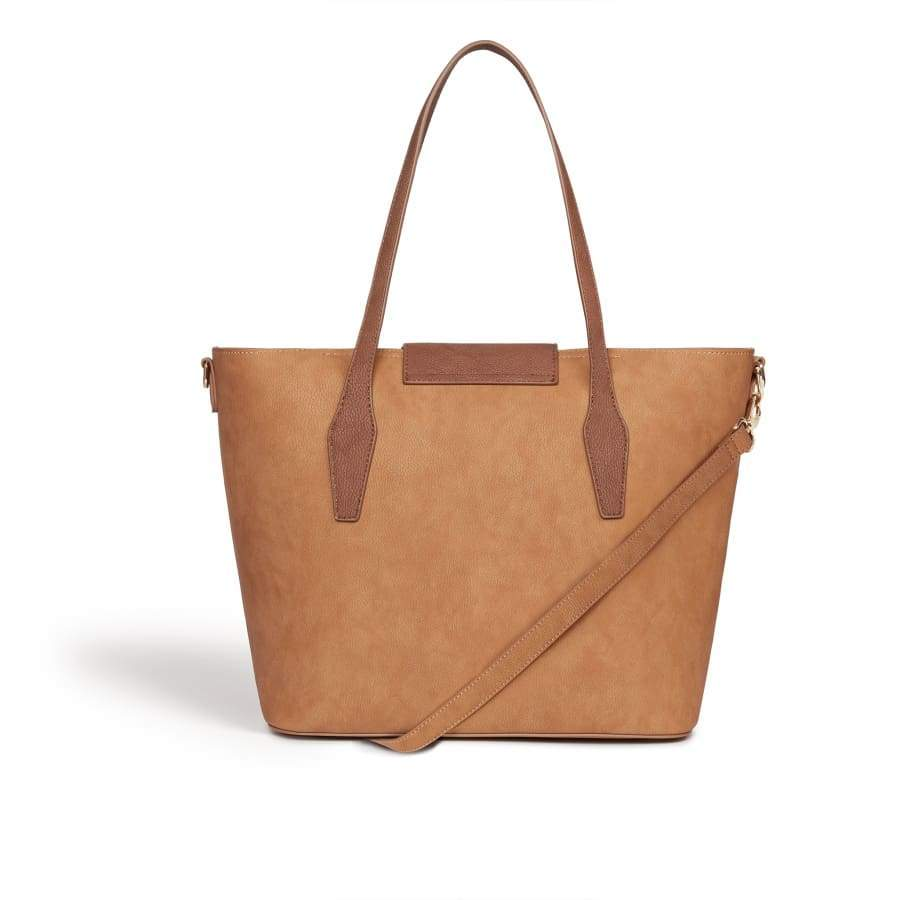 Maple Brown Vegan Shoulder Bag brown from behind