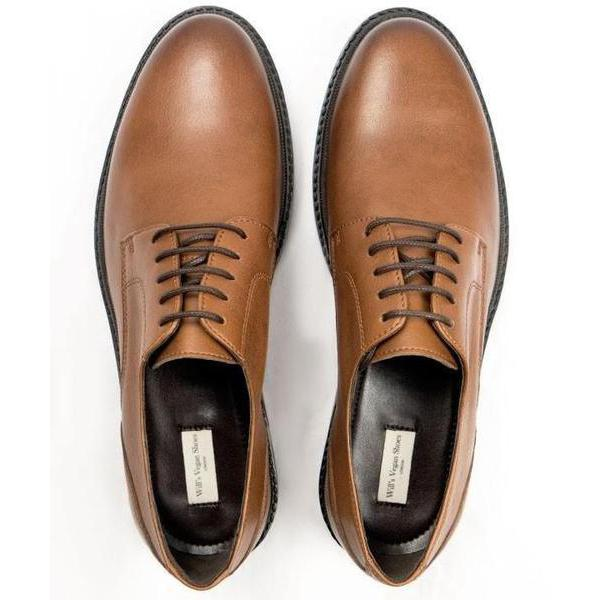 Mens Vegan Shoes Continental Derbies in Tan from above by Will's London at ALIVE Boutique