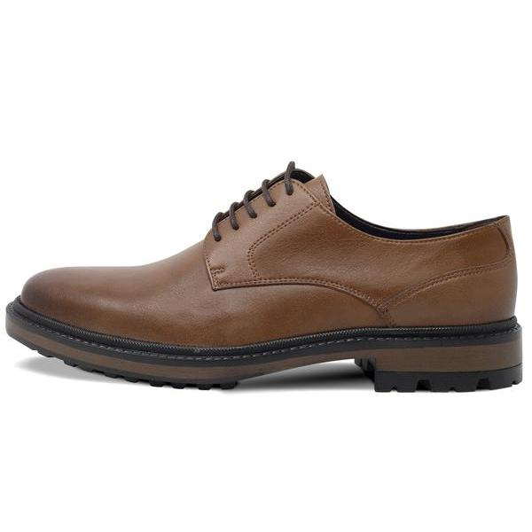 Mens Vegan Shoes Continental Derbies in Tan picture from the left by Will's Vegan Shoes ALIVE Boutique