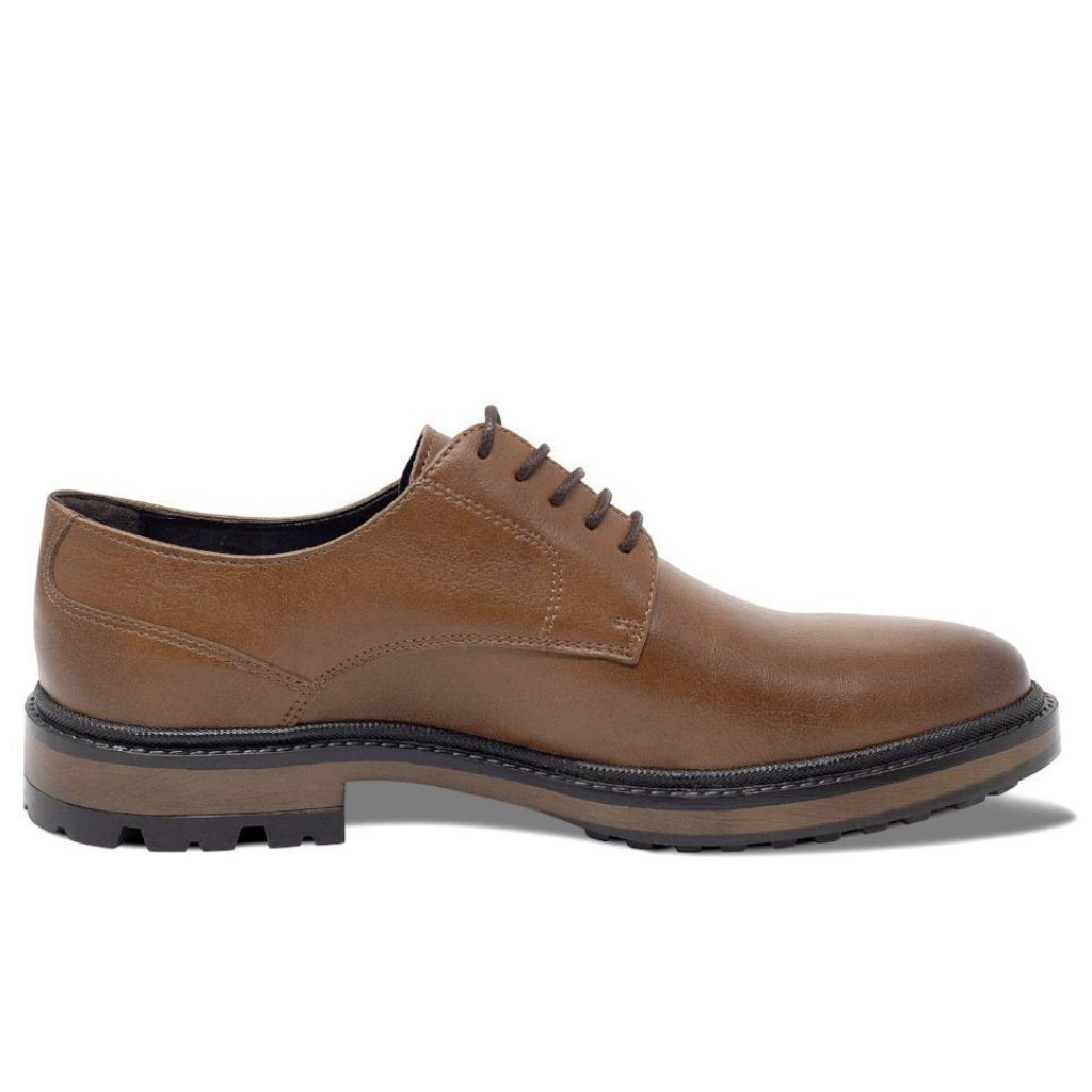 Mens Vegan Shoes Continental Derbies in Tan picture from the right by Will's Vegan Shoes ALIVE Boutique