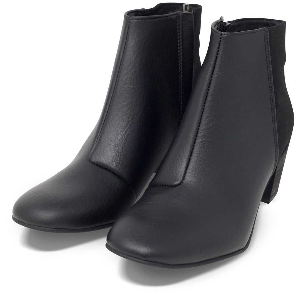 Pair of Vegan Ankle Boots in Black Nina by Good Guys at ALIVE Boutique