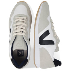 Pair of Vegan Men's Shoes in White by Veja from above at ALIVE