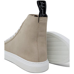 Pair of Vegan Shoes and white sole for men and women in beige at ALIVE Boutique