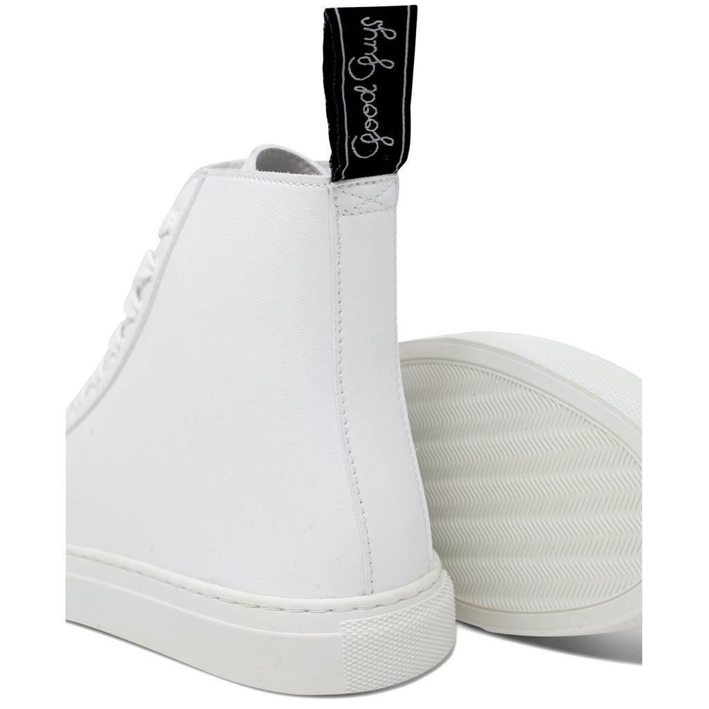 Pair of White Vegan Shoes and white sole for men and women