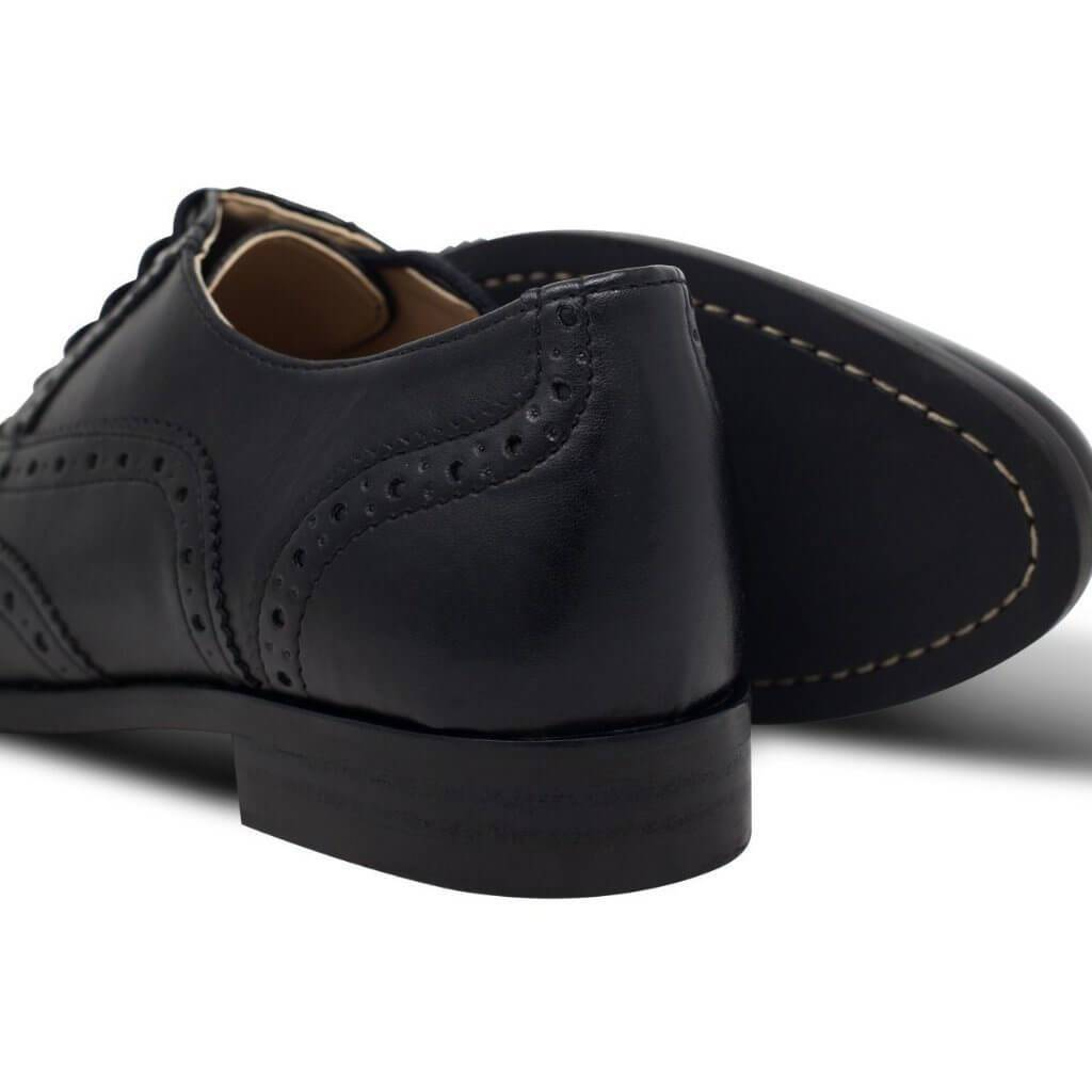 Pair-of-Women's-Oxford-Brogues-black-vegan-shoes-from-the-back