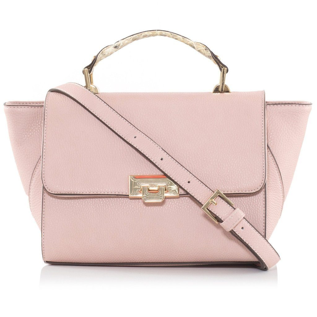 Pink Dunlin Vegan Across Body Bag with a strap by Labante London at ALIVE Boutique