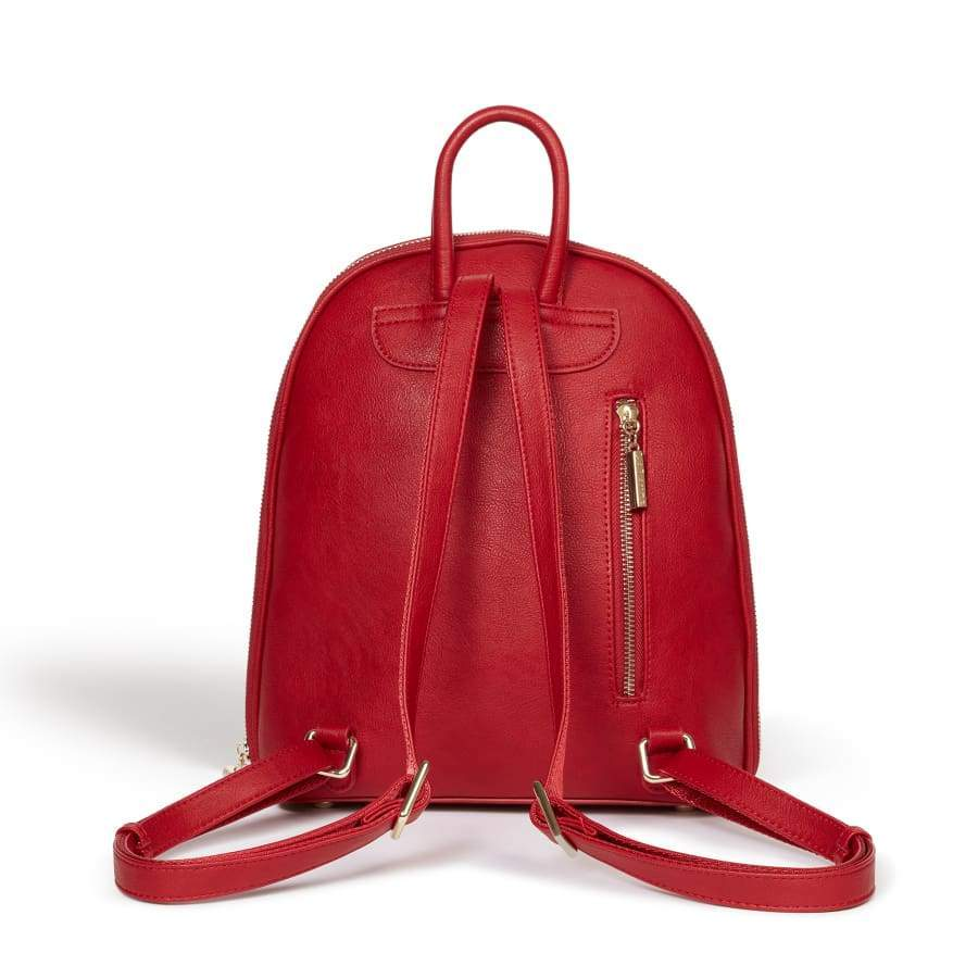 Red vegan Backpack Sycamore from behind