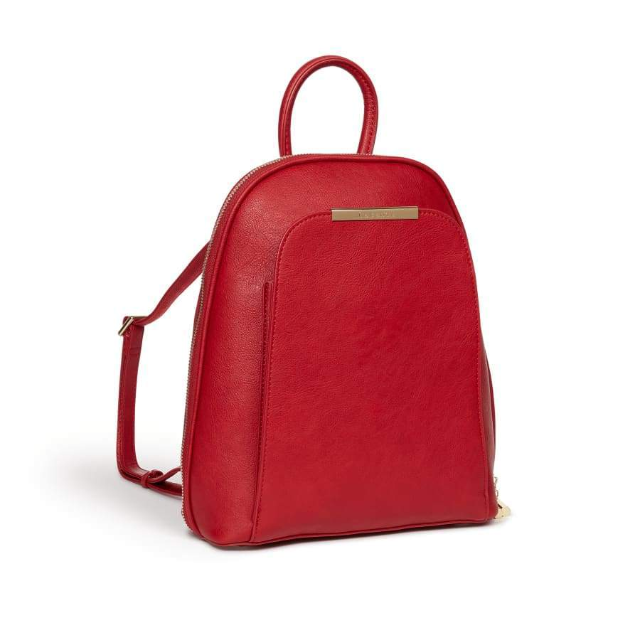 Red vegan Backpack Sycamore from the side