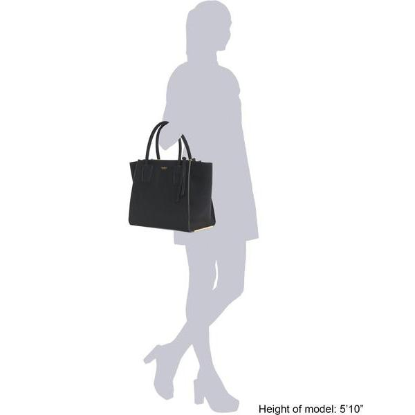 Sizing information Vegan handbag Demi Black Shoulder Bag