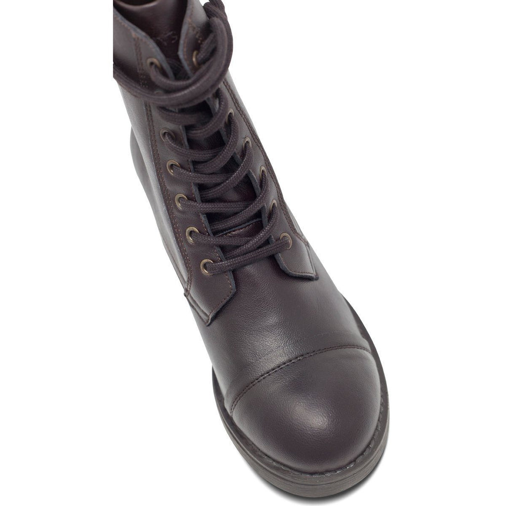 Toecap of Brown Vegan Boots by Will's vegan shoes at ALIVE