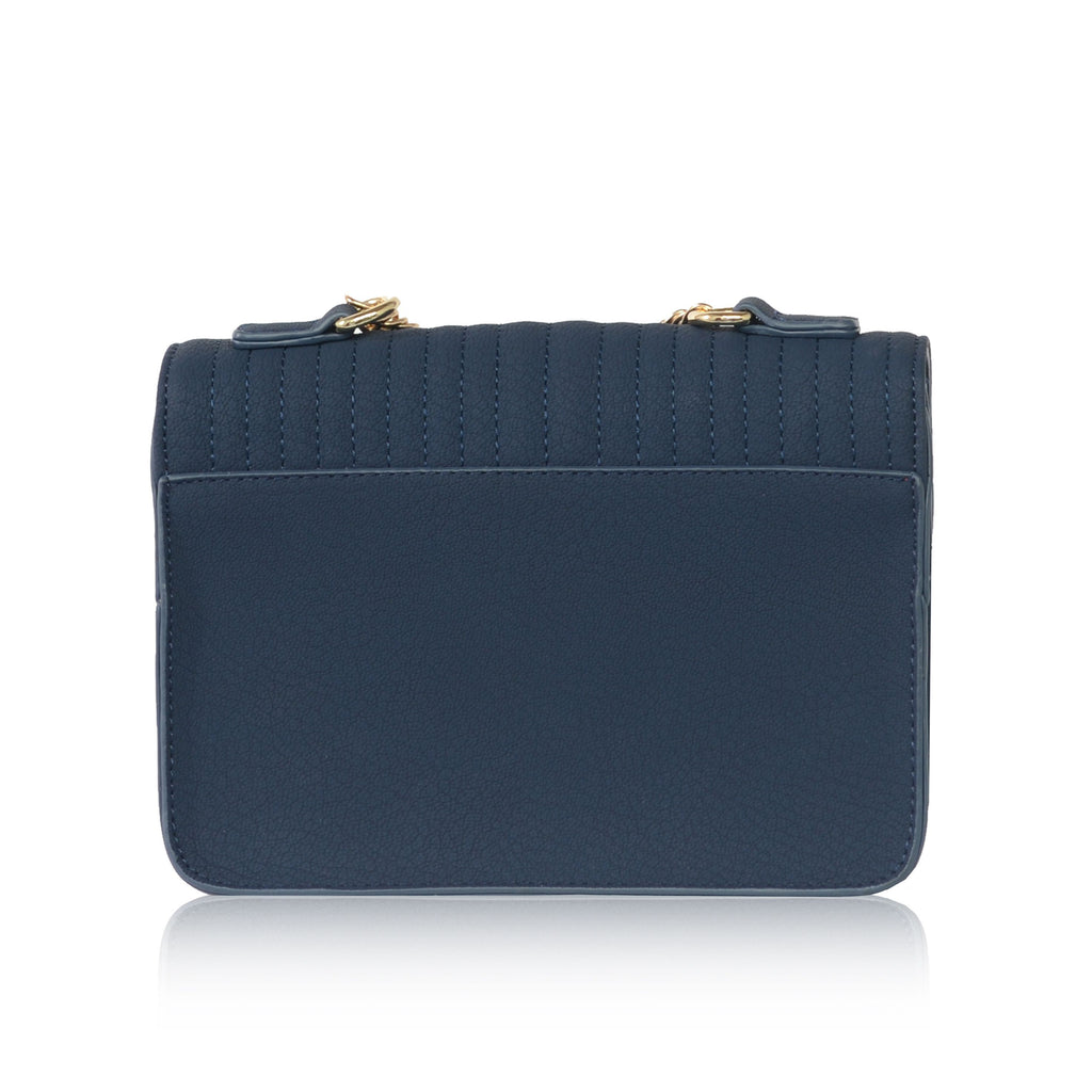 Vegan Across Body Bag Handbag Ida in Blue by Labante from behind