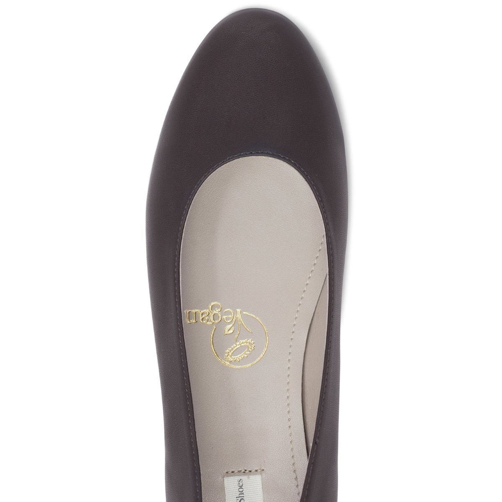 Vegan Ballerina Flats Shoes in dark brown at ALIVE Boutique