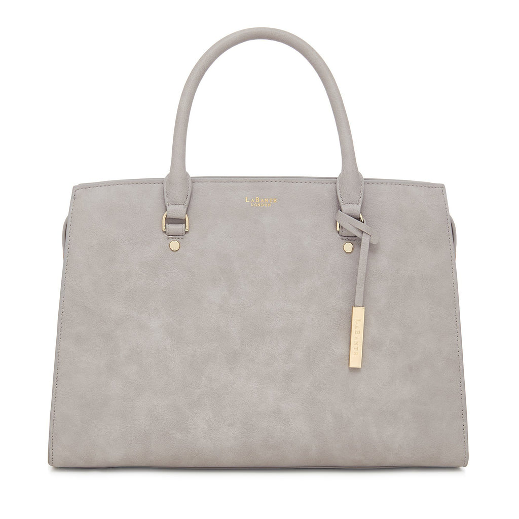 Vegan Carryall Handbag Aricia in Grey by Labante at ALIVE